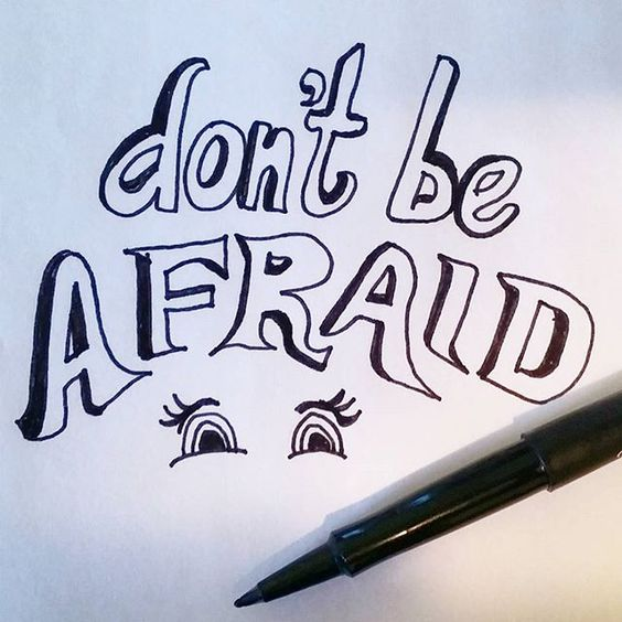 Don't be afraid. #bestrong #type #dailytype #words #typography #calligraphy #lettering #write #pen #worldofpen #encourage