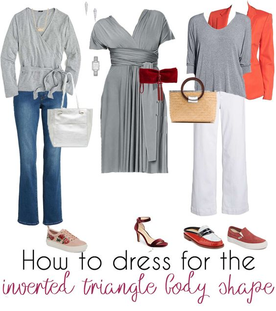 How to dress the inverted triangle body shape – learn how to dress for your body type | 40plusstyle.com