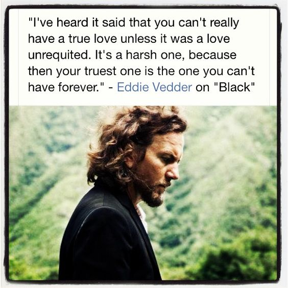Eddie Vedder singing Black on MTV unplugged is the most heartbreaking viewing ever