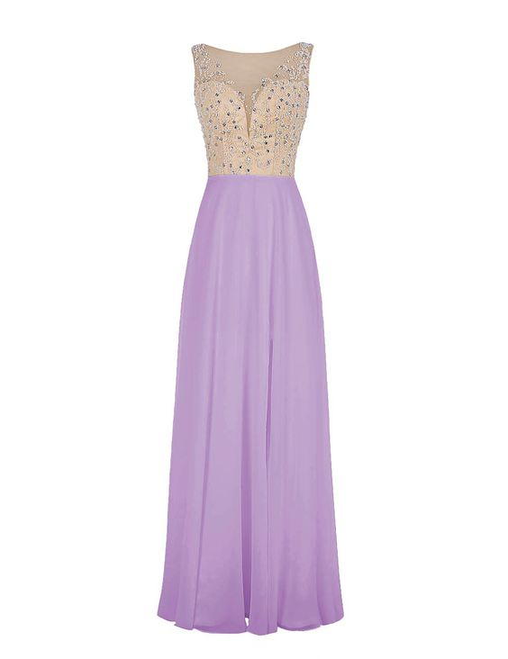 """Wedtrend Women's Sleeveless Bridesmaid Prom Dress Double V-neck Long Evening Dress with Beads WT11009 Lavender 26W. Please Use The Size Chart Image on the Left. Do not use Amazon's """"Size Chart"""" link. Double V-neck stylish with beading decoration. Hand wash in warm water. Hang to dry. Iron under warm and low temperature. Padded bra for """"no-bra"""" option. Ignore the time set automatically by Amazon. Processing needs 7-10 days. Delivery takes 3-5 days."""