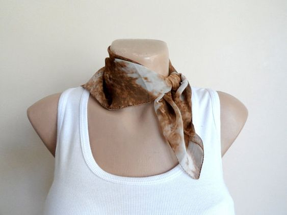 Ombre Scarf in Brown Tan, Women Scarf Scarves, Boho Chic, Glitter Chiffon, Fall Autumn Fashion
