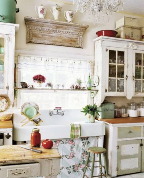 Shabby chic kitchen ideas design a room pinterest for Rustic chic kitchen ideas