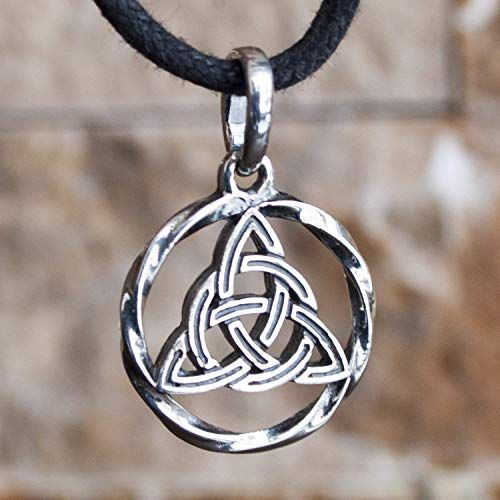 TRIQUETRA CELTIC PAGAN WICCA CHARM 925 STERLING SILVER