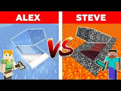 Minecraft Alex Vs Steve Lava Secret Base Vs Ice Base The Best Episodes Youtube In 2020 Minecraft Funny Minecraft Animations Episodes A improbable minecraft seed for a nether rush, this. minecraft alex vs steve lava secret