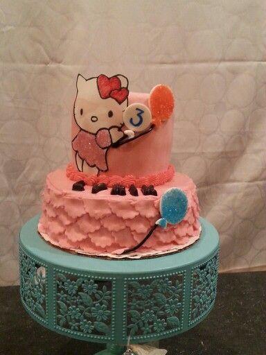 #hellokittycake #girlbirthday #fondantcake