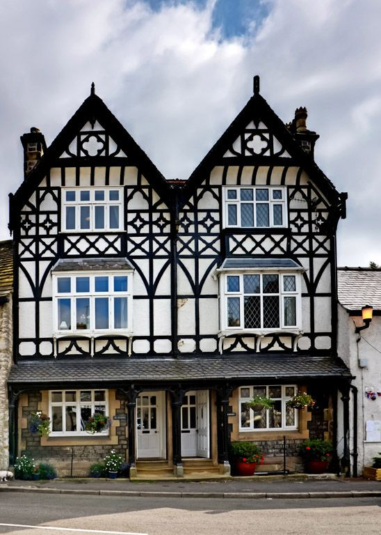 Half-timbered houses - Tideswell, Derbyshire. Photo by Jasmine Wang (Tigerlily): District Derbyshire, Derbyshire Tigerlily, Enchantedengland English, English Architecture, England Uk, Architecture Tideswell, Derbyshire Photo
