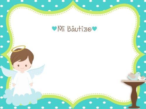Invitaciones De Bautizo Gratis Para Imprimir Y Personalizar