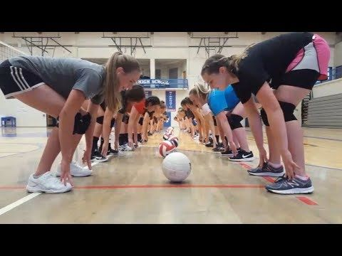 Team Bonding And Reaction Drills Fun Volleyball Training Volleyball Workouts Volleyball Tryouts