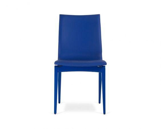 Cadeira Fidalga - Couro Azul