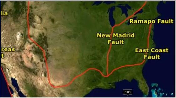 ramapo fault line eastern united states | ... Madrid Fault Line experiences an earthquake, so may the east coast