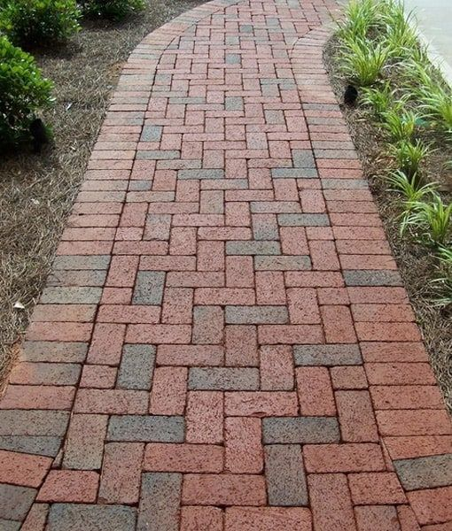 Brick Paving For An Enhanced Look In 2020 Paver Walkway Brick Pathway Brick Sidewalk
