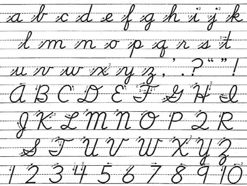 Printables Cursive Writing A To Z cursivemy handwriting is one of the things i am most proud too bad it going out style pinterest s