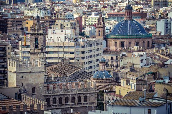 Lonja de la Seda, Iglesia de los Santos Juanes y Escuelas Pias (Valencia - Spain)