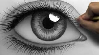 How to Draw a Realistic Eye (Time Lapse), via YouTube.