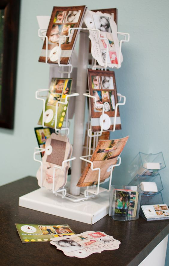 Neat way to share cards with clients who come in.