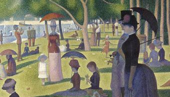 Pós-impressionismo: A Sunday Afternoon on the Island of La Grande Jatte, de Georges Seurat