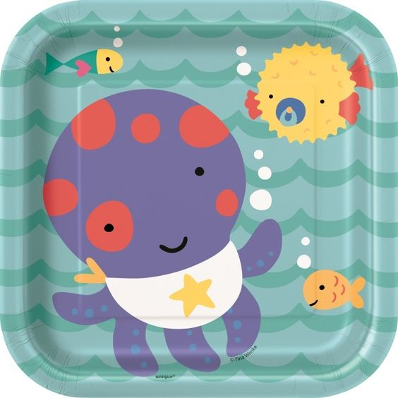 Octopus Plates | Under the Sea Party Supplies | Ocean Birthday Party