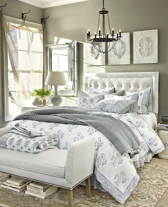 I love grey and white bedroom decor. My current bedroom is this colour scheme, very relaxing.