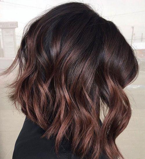 65 Best Brown Hair With Highlights Ideas Dark Medium Light Colors In 2020 Brown Hair Dye Red Highlights In Brown Hair Short Hair Balayage
