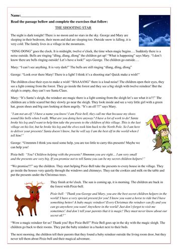 Fourth grade christmas reading worksheets