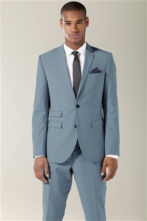 Buy Pale Blue Slim Fit Suit: Jacket from the Next UK online shop