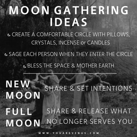 Full Moon & New Moon gathering intention & ceremony ideas from You.Are.Venus