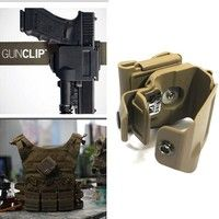 •Fits all generations Glock 17, 19, 22, 23, 34, 35; Works with nearly any weapon light, rear sight,