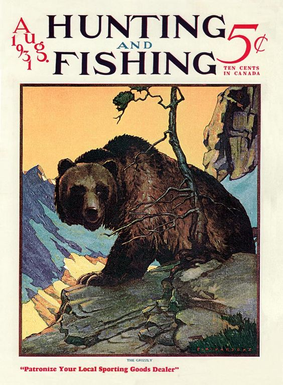 magazine covers in 1931 | Hunting and Fishing 1931-08