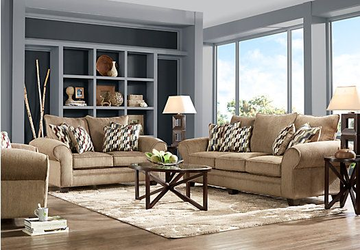 Shop for a chesapeake mocha 7 pc living room at rooms to for Find living room furniture