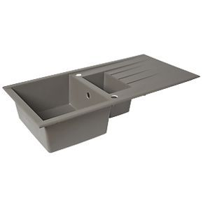 Order online at Screwfix.com. Reversible composite kitchen sink with drainer. FREE next day delivery available, free collection in 5 minutes.