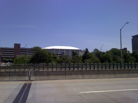 THE DOME AS SEEN FROM THE DECK OF I-81 VIADUCT
