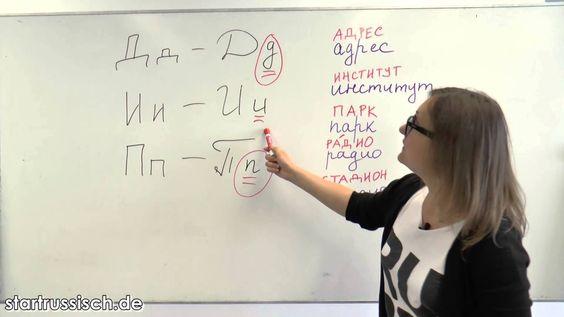 Russisch lernen: Das russische Alphabet - Teil 1