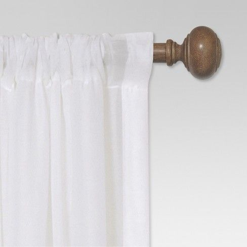Curtain Rod Faux Wood Threshold With Images Wood Curtain Rods Wood Curtain Decorative Curtain Rods