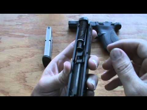 Smith & Wesson M&P Shield field strip - disassemble and reassemble how to