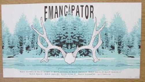 Original silkscreen concert poster for Emancipator and his Tour in 2012. 24 x 13 inches. Signed and numbered 10 out of only 85 by the artist Neal Williams.