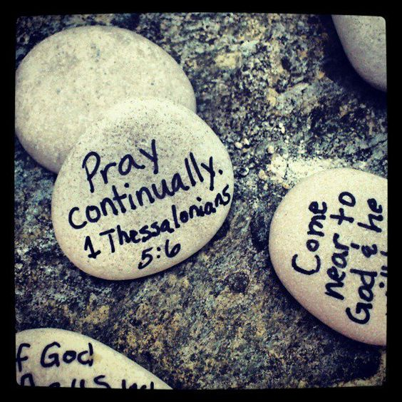 Scripture Rocks: I took a few of them with me when I went out the other day.  I put one next to the peanut butter at the grocery store.  I left one on the counter at the post office.  A third one I dropped into my friend's purse while she was looking away.  I wonder who will find them or when?