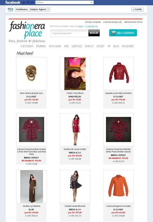 Fashionera cria canal de compras no Facebook
