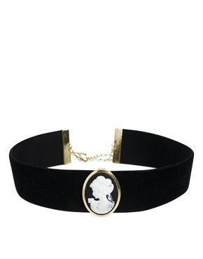 Image 1 of ASOS Cameo Choker Necklace: