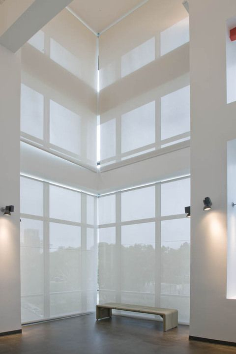 Roller shades hunter douglas and rollers on pinterest for Hunter douglas motorized shades repair