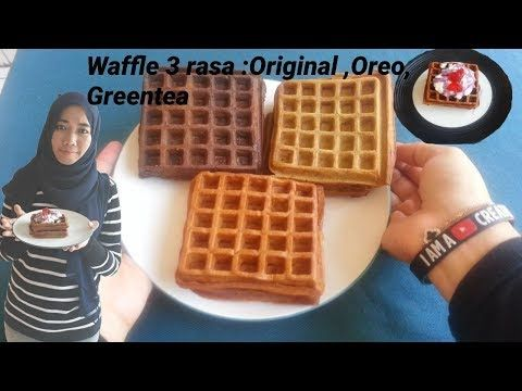 Waffle 3 Rasa Yang Simple Rasa Original Oreo Greentea Youtube Ide Makanan Resep Masakan Oreo
