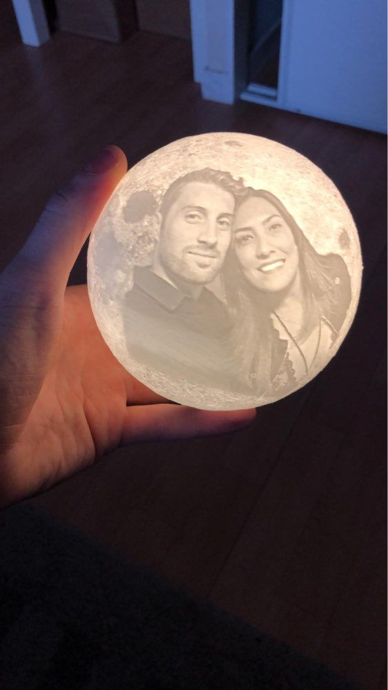 Personalized Custom 3d Moon Lamp Love You To The Moon Moon Light Lamp Lamp Everlasting Light