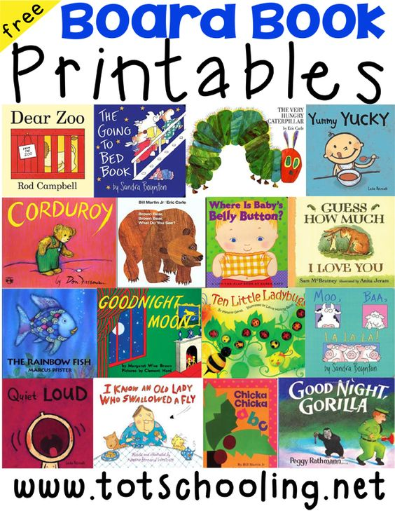Board Book Printables for Toddlers | Board book, Toddler age and ...