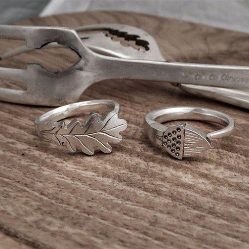Oak leaf and acorn rings