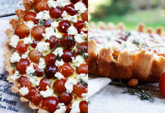 [Edit]    Tags    cherries, french tart, french tart crust, ranier cherries, savory tart recipe, summer recipes, tart, tart crust recipe  Sausage and Ranier Cherry Tart with Lemon, Thyme and Goat Cheese. Baked in a traditional French pastry crust.