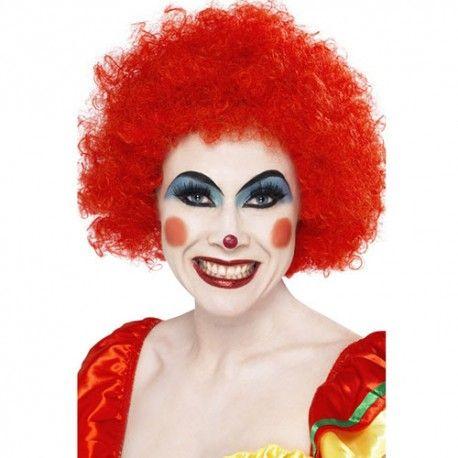 Perruque clown fou rouge