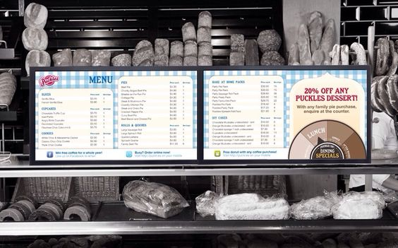 I really like this menu design. It's simple, but it's sweet and to the point, and there wouldn't be the need for anyone to squint, lean over the counter, or seem to stare into space while deciding what they'd like. No-one would feel rushed whilst trying to read it