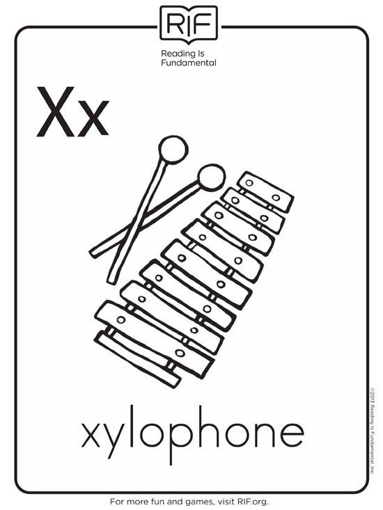 X Is For Xylophone 1360782852582 Xml In 2020 Alphabet Coloring Pages Alphabet Coloring Abc Coloring Pages