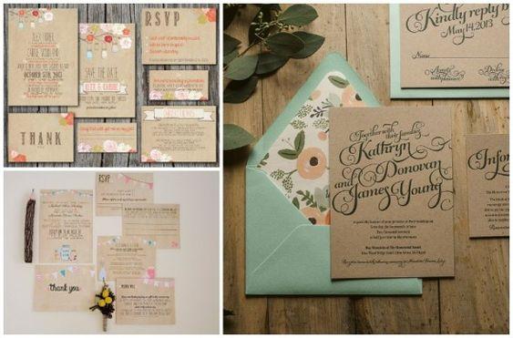 convite casamento papel kraft inspire minha filha vai casar-10