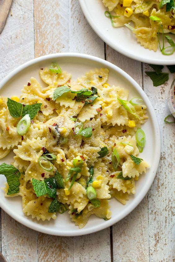 There's no cream in this wonderfully summery pasta dish, just a luscious sauce…