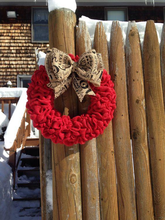 Live, Laugh, and Love burlap wreath